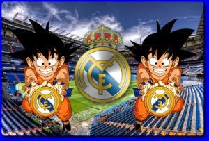Goku con la camiseta del real madrid recordar esa escena en donde a goku le sale una esfera en la frente en este caso le sale el escudo del real madrid thecheapjerseys Image collections