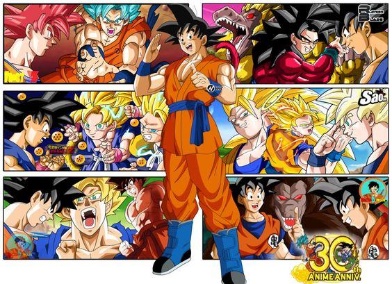 Fotos Para Colorear De Goku En Todas Sus Fases: Ver Imagenes De Goku En Todas Sus Fases