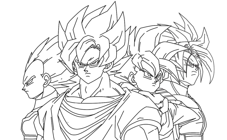 Dibujos Para Colorear Goku Para Imprimir: Goku Para Colorear E Imprimir