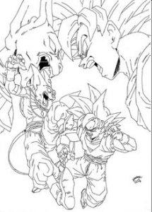 Imagenes De Dragon Ball Z Goku Para Colorear