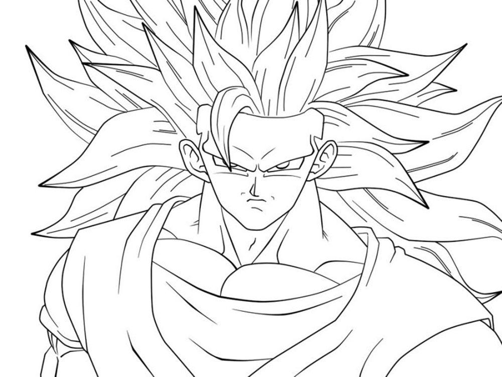 Dibujo De Goku Y Vegeta Para Imprimir Y Colorear: Goku Para Colorear E Imprimir