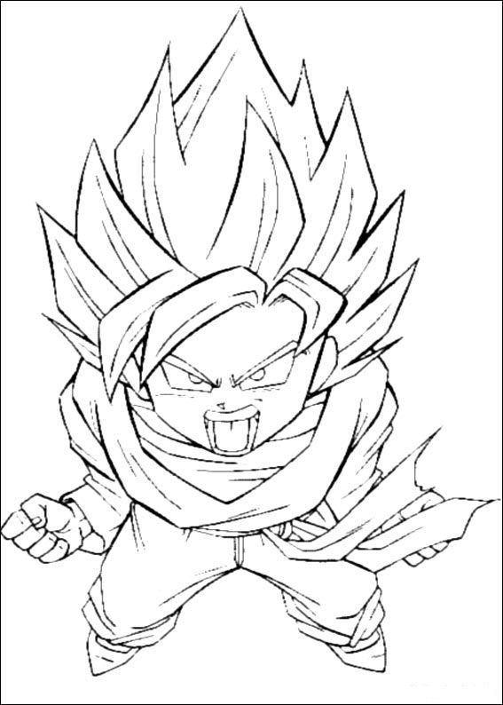 Imagenes Para Colorear E Imprimir De Dragon Ball Gt