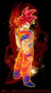 Goku ssj dios rojo