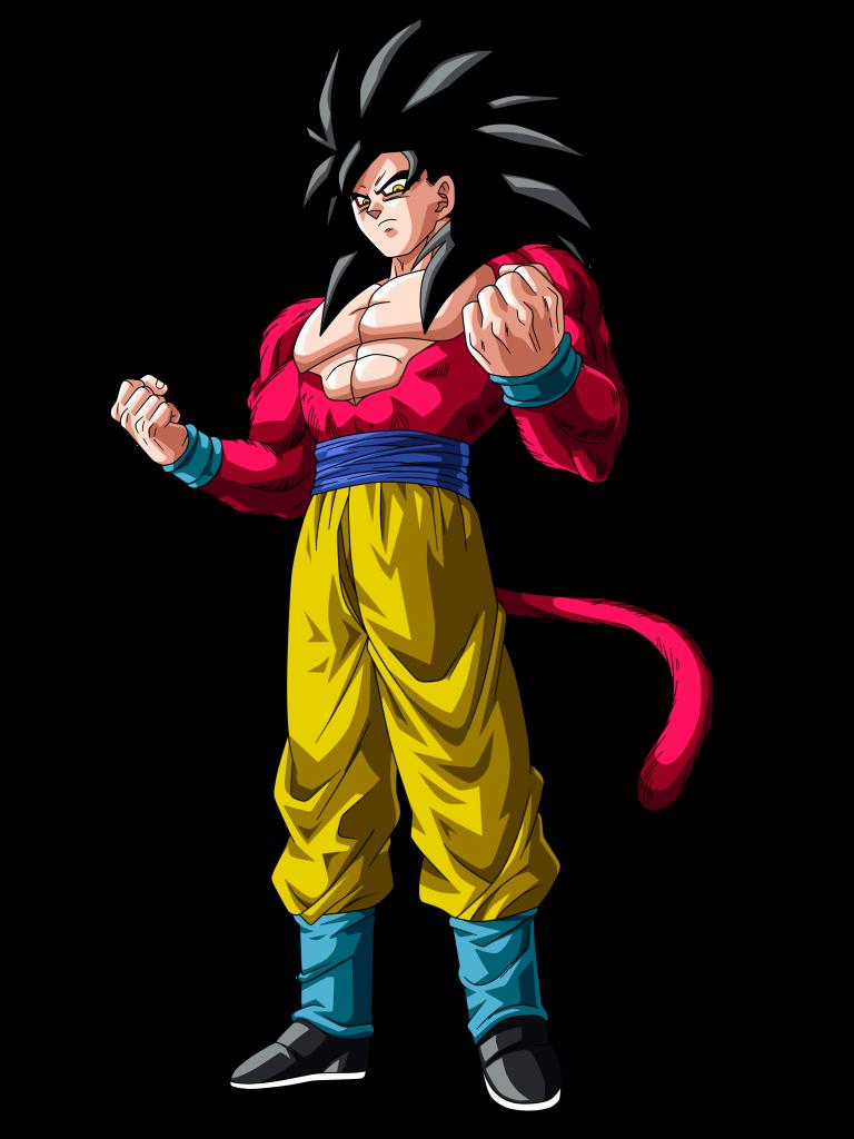 Goku fase 1 2 3 4 - Sangoku sayen 4 ...
