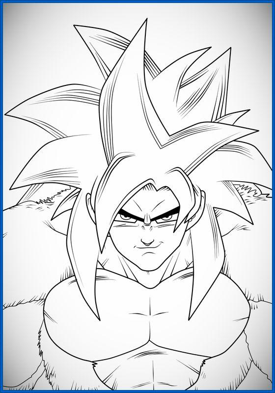 Dibujos De Dragon Ball Z Para Colorear Goku Fase 4