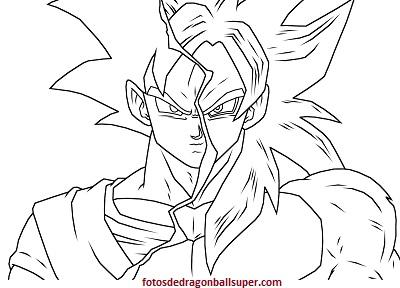 Dibujos Para Colorear Goku Super Saiyan 4 Pintar