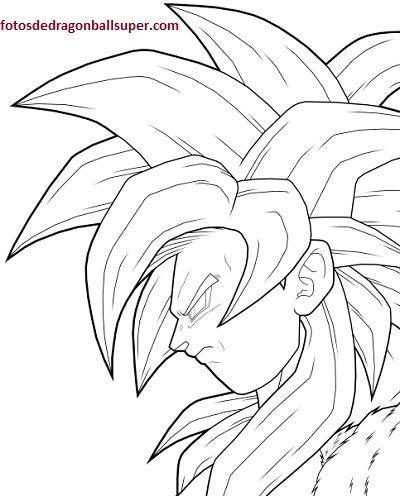 Dibujos Para Imprimir Y Colorear De Goku Ssj4