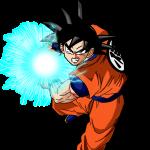 Goku haciendo el kame hame ha
