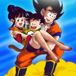 Goku Gohan y Milk