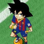 Goku vestido de Barcelona