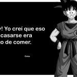Goku con frases
