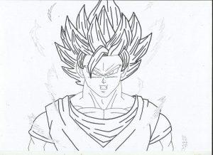 Goku Fase 2 Para Colorear