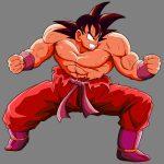Goku haciendo el Kaio-ken