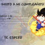 Goku para cumpleaños