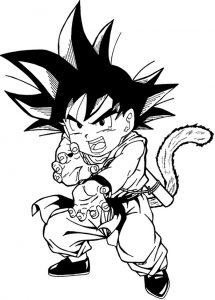 Goku Nino Para Colorear