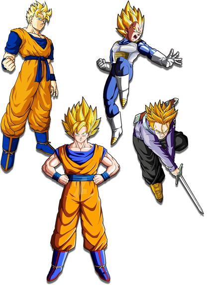 Imagenes De Goku Gohan Vegeta Trunks