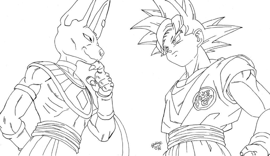Dibujos Para Colorear De Goku Fase Dios: Goku Dios Para Dibujar