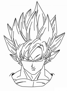 Goku Ssj2 Para Colorear