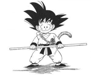 Goku Niño Para Colorear