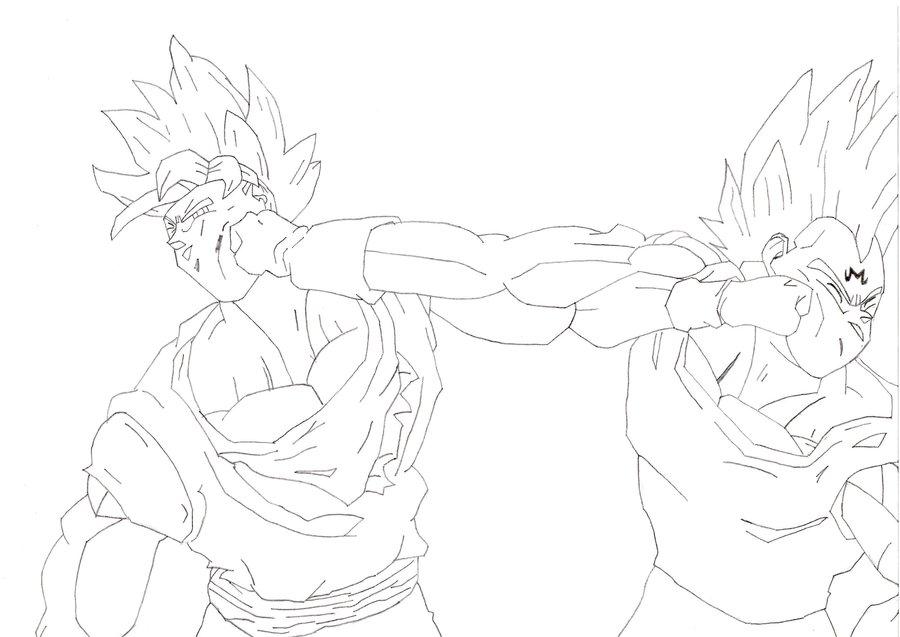 Imagenes Para Colorear De Goku Vs Vegeta - Get Yasabe