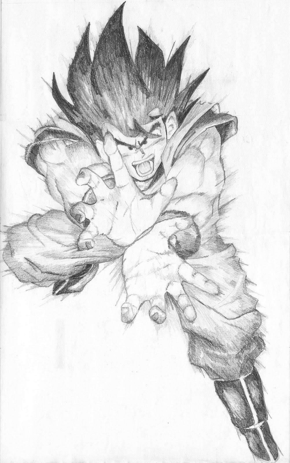 Goku hecho a lapiz