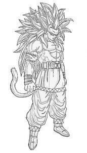Goku Fase 5 Para Colorear