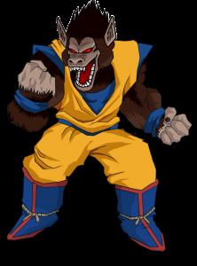 Goku transformado en mono