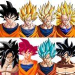 Goku y todas sus fases