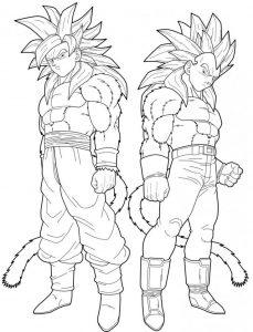 Goku Ssj4 Para Dibujar
