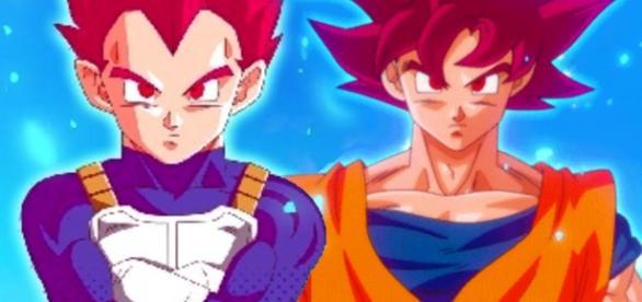 imagenes de Goku y Vegeta fase dios