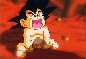 imagenes de Goku llorando