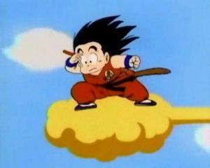 imagenes de Goku volando