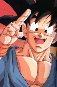 imagenes de Goku riendose