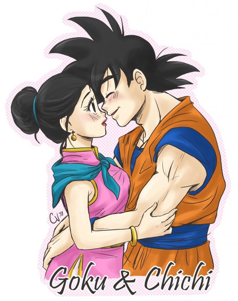 Imágenes de Goku y Milk