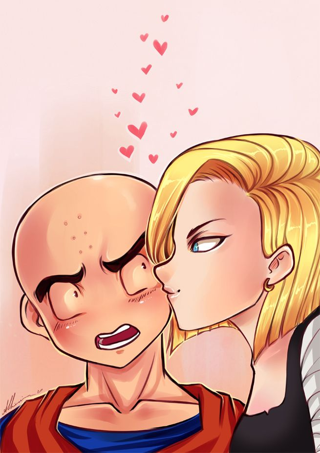 Imagenes de Krilin y Androide 18 enamorados